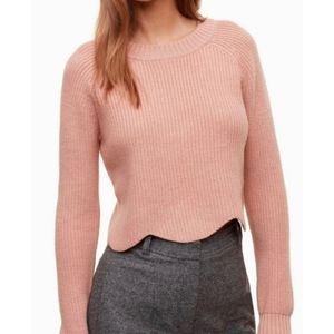 ARITZIA WILFRED Sardou Scalloped Sweater Sz M